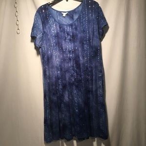 Cato EST. 1946 Multi Colored Sequin Blue Dress